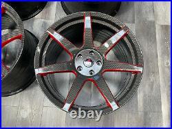 19/20 Brand New Project6gr 7 Spoke ZR spec Carbon Fiber Face Brushed Red Window