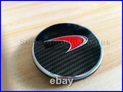 1XGenuine Mclaren MP4-12C 650s Red Carbon Fibre Hub Cap 11B1650CP Brand New