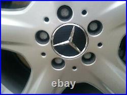 4 X Mercedes Benz 75mm Centre Wheel Caps BLACK CARBON Brand New