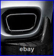 BMW Brand OEM F15 X5 M Performance Carbon Fiber Rear Bumper Corner Flaps NEW