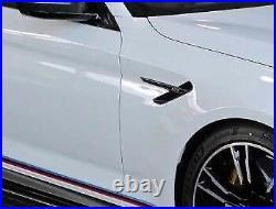 BMW Brand OEM F90 M5 2018+ Carbon Fiber Black Side Vent Pair Brand New