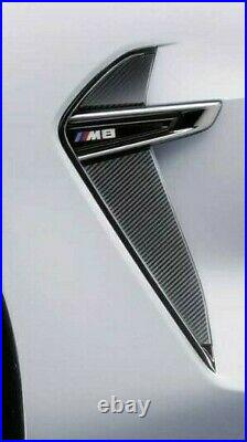 BMW Brand OEM F91/F92 M8 2020+ Carbon Fiber Black Side Vent Pair Brand New