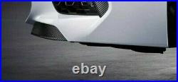 BMW Brand OEM F91/F92 M8 2020+ Carbon Fiber Front Bumper Pressure Lip Pair New