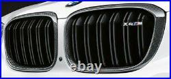 BMW OEM 2019+ G02 F98 X4 M Performance Front Carbon Fiber Grille Pair Brand New
