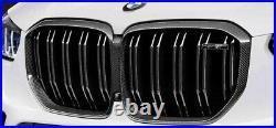 BMW OEM 2019+ G05 F95 X5 M Front Grille Black Carbon Fiber Brand New