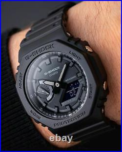 BRAND NEW Casio G Shock CASIOAK GA2100-1A1 GA2100 Carbon Core TRIPLE BLACK RARE