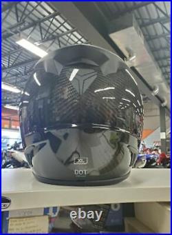 BRAND NEW OEM entirely Carbon Fiber XL Slingshot helmet with BAG & DARK SHIELD