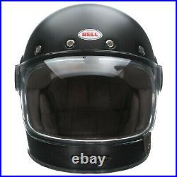 Bell Bullitt Carbon Motorcycle Helmet Matte Black Adult Size Large L BRAND NEW