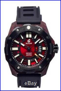 Brand NEW BOLDR Odyssey Carbon Red watch ETA 2824-2 automatic 300m WARRANTY AD