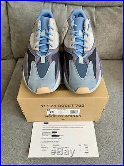 Brand New Adidas Yeezy 700 Boost Carbon Blue Size 12 WithReceipt FW2498