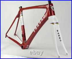 Brand New BASSO Diamante 40th Limit Carbon Road Bicycle Frameset Red 700C 51cm