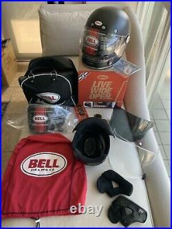 Brand New BELL BULLITT CARBON + BONUS Shields, Liner, Pads. XL $840+ Orig