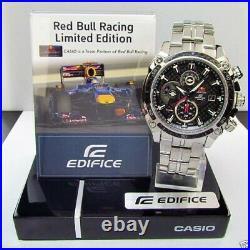 Brand New Casio Edifice Efe-504rbsp-1 Red Bull Infiniti Carbon Sapphire Limited