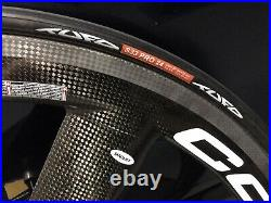 Brand New Corima Carbon Tri-Spoke Front Wheel