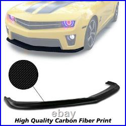 Brand New Fits 10-13 Chevy Camaro ZL1 Style Front Bumper Lip Carbon Print
