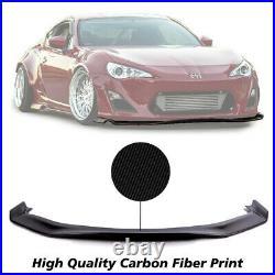 Brand New Fits 13-16 Scion FRS FR-S Style Front Bumper Lip Carbon Print