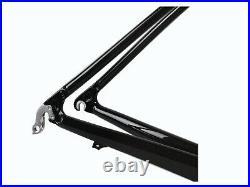 Brand New Full Carbon Glossy Road Bike Frame 46cm Fork (alloy Steerer)