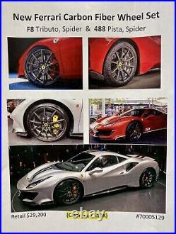 Brand New OEM Genuine Ferrari Carbon Fiber Wheel Set