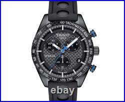 Brand New Tissot T1004173720100 PRS-516 Chrono Carbon Dial Men's 42 mm Watch