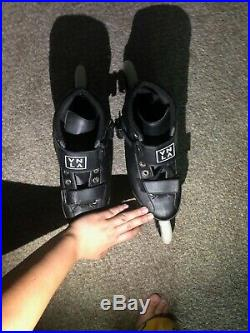 Brand New Vanilla Carbon Competitive Inline Speed Skates Black Size 7