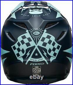 Brand new Bell Moto-9 Carbon Flex Helmet in BREAKAWAY MATTE NAVY/LIGHT BLUE
