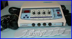 Brand new Electro therapy -4 Channel pulse massager with carbon pads