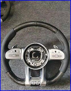 Brand new Mercedes-Benz AMG carbon fiber custom steering wheel