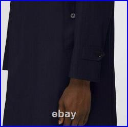 Burberry Camden Car Coat BRAND NEW Blue Carbon Size 48-50