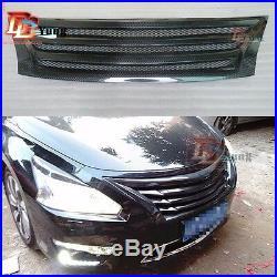 Carbon Fiber Front Radiator/Hood Grille Bumper Grill for Nissan 2013-2015 Altima