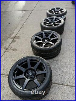 Carbon Fiber Mustang Shelby GT350R wheels with brand new R888R tires