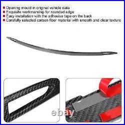Dry Carbon Fiber Rear Trunk Strip Trim Fit For Model S 2016-2018 Brand New