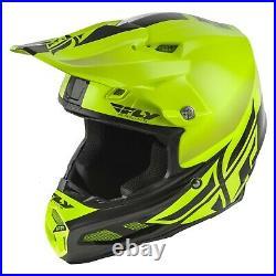 Fly Racing F2 Carbon Mips Shield Helmet 73-4246XX Hi-Vis/Black Brand New! Mx sx
