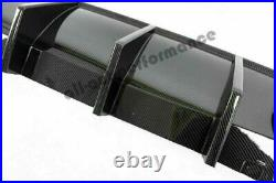For 15-19 Dodge Charger Carbon Fiber Rear Lip Bumper Valance Diffuser Brand New