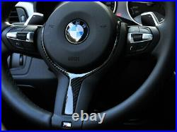 GENUINE BMW steering wheel Carbon Cover M PERFORMANCE 32302345201 BRAND NEW