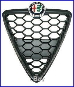 Genuine Brand New Alfa Romeo Giulietta 2016 Carbon Fibre Front Grille 156138710