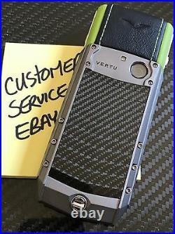 Genuine Vertu Ascent X Carbon Fiber LIME Black a must own Super RARE Brand NEW