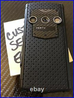 Genuine Vertu Constellation Touch Neon Silver CARBON FIBER Super RARE Brand NEW