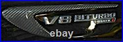 Mercedes-Benz OEM Carbon Fiber Fender Side Trims W213 E63 AMG (S) Brand New