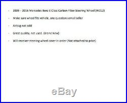 Mercedes Benz W212 Carbon Fiber Steering Wheel BRAND NEW 2010+ E Class Fits AMG