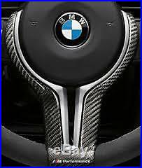New Genuine BMW M3 M4 M Performance Gloss Carbon Steering Wheel Trim 32302345203