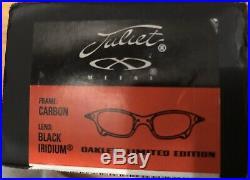 OAKLEY X METAL Juliet Ducati Limited Edition Carbon / Black Iridium BRAND NEW