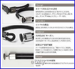 Phiten (Phiten) Rakuwa Breath X100 Carbon Black 19cm Brand New from Japan NEW