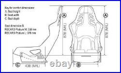 Recaro Podium Seat, Carbon Fiber Reinf. Shell, Fia, Alcantara / Leather, Brand New