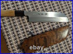 Sakai takayuki Carbon steel usuba knife Custom Saya cover. Brand new
