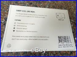 Sealed Ridge Black Carbon Fiber Money Clip Wallet Cardholder ID Brand New
