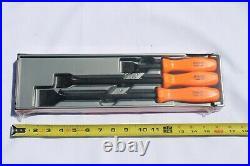 Snap On Carbon Scraper Set 3 pc. Orange Hard Handle Rare Brand New CSA300A