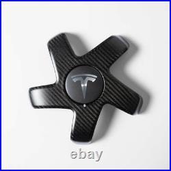 Tesla Model 3 Carbon Fiber Wheel Cap Kit! Brand New! Free Shipping