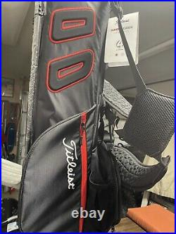 Titleist Players 4 Carbon Stand Bag (Black & Red) Brand New