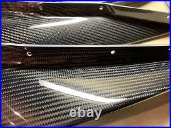 Top Secret Carbon Fiber Gtr R35 Upper Lower Circuit Canard Set Lot Brand New