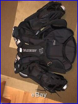 Vaughn Velocity VE8 Pro Carbon Goalie Chest and Arm Protector SR/LRG (BRAND NEW)
